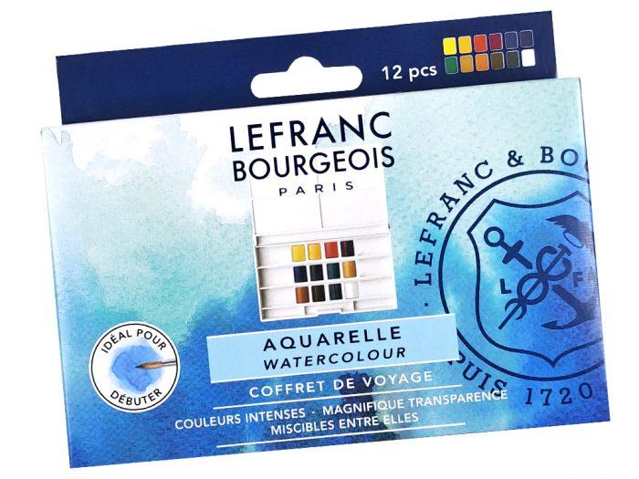 Watercolour half pan set L&B Fine - 1/4