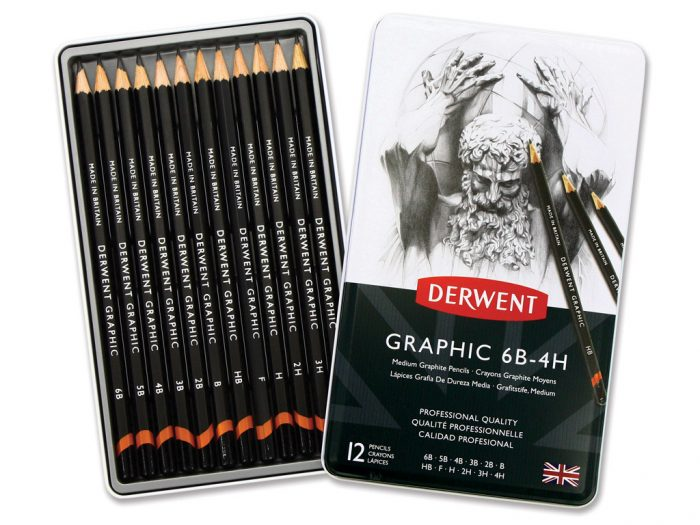 Graphite pencil Derwent Graphic in metal box - 1/3