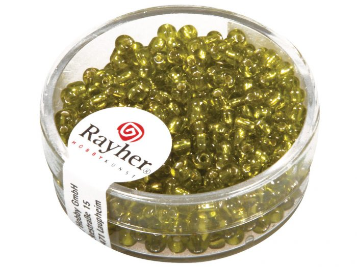 Rocailles Rayher 2.6mm silver inlet