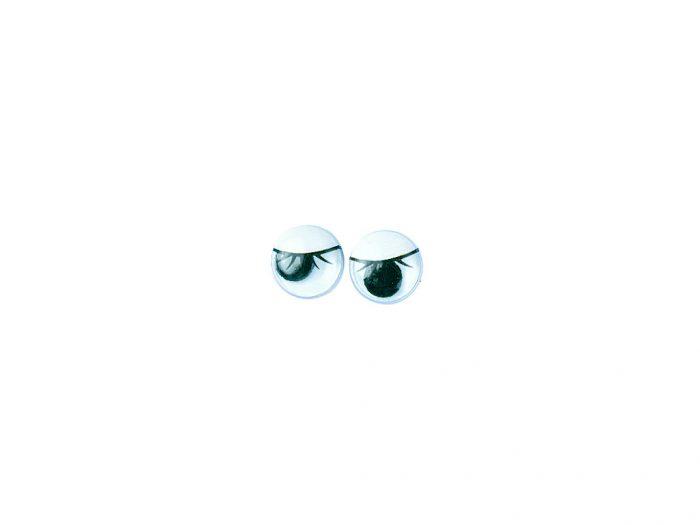 Plastic wiggling eyes with eyelash Rayher