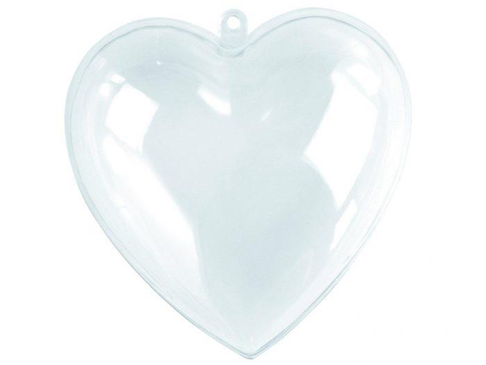 Plastic heart 2 parts 6cm