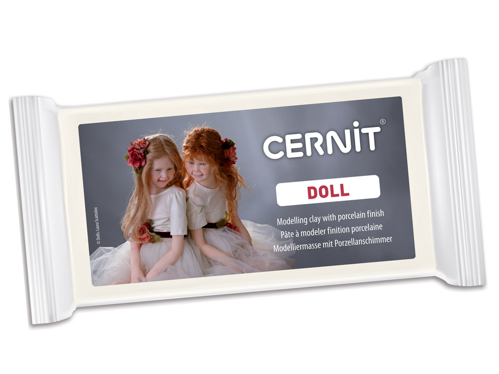 Polymer clay Cernit Doll 500g 010 white