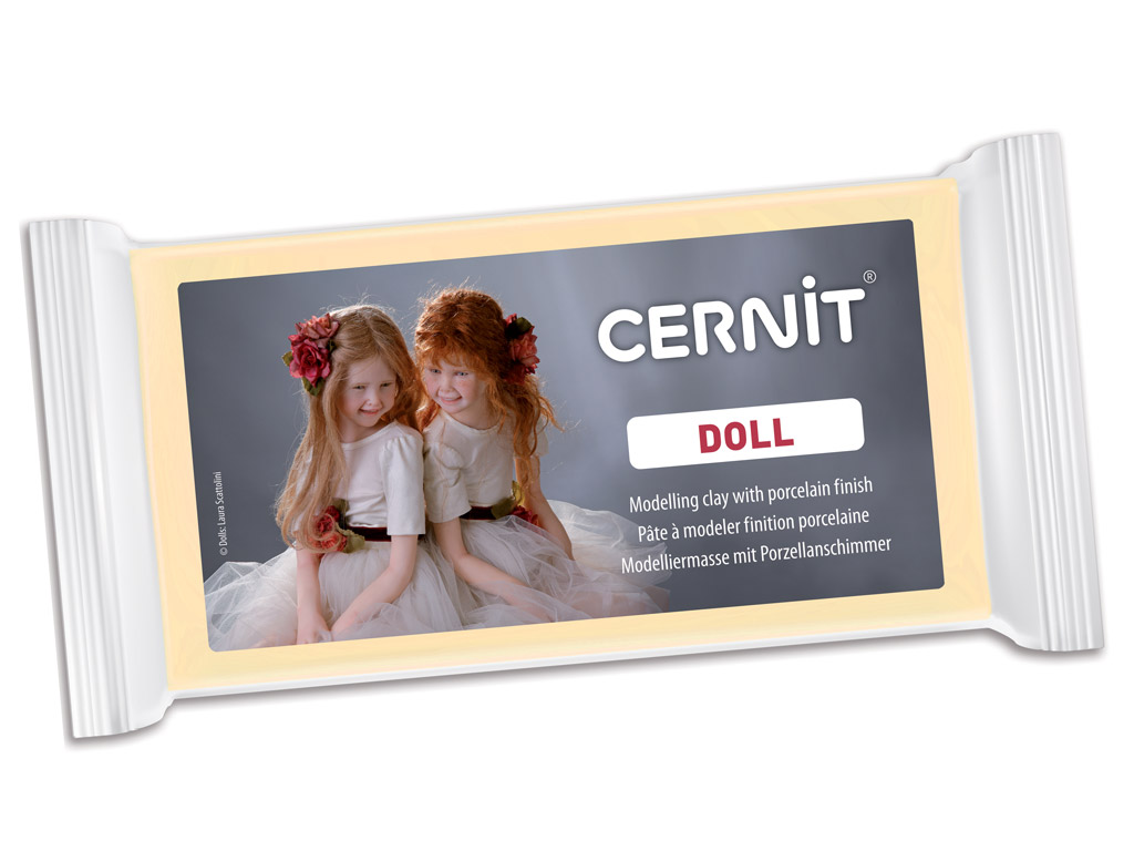 Polymer clay Cernit Doll 500g 744 almond