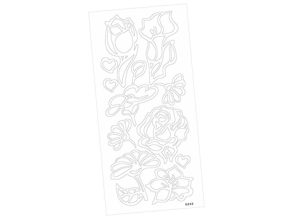 Kontuurkleebis 0255 Lilled kahepoolne liim blistril