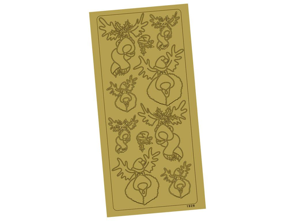 Outline Sticker 1928 Gold Rudolph blister