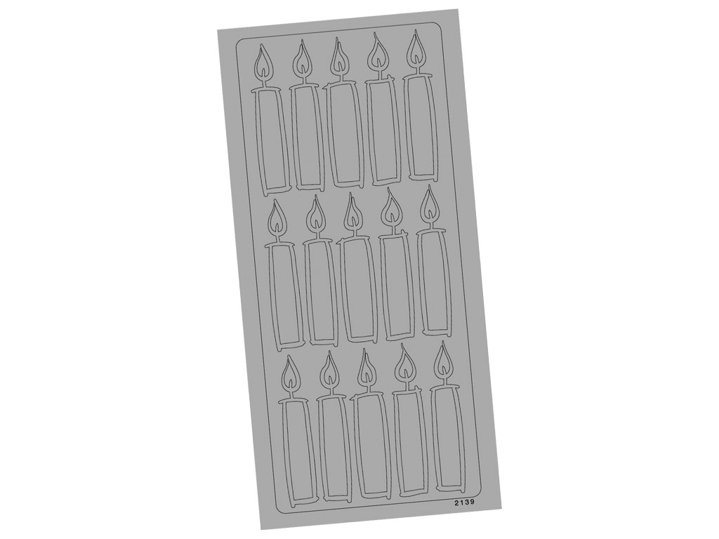 Outline Sticker 2139 Silver Candels blister