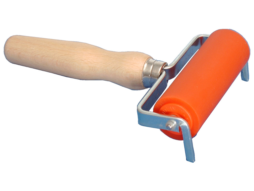 Ink roller Abig with wooden handle
