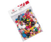 Wooden beads various colours 75g