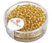 Smulkūs karoliukai 2.6mm sidabruotas vidus 16g 06 gold
