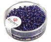 Rocailles 2.6mm silver inlet 16g 10 dark blue