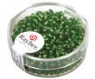 Smulkūs karoliukai 2.6mm sidabruotas vidus 16g 29 green