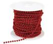 Decorative chain 4mm 1m 18 red