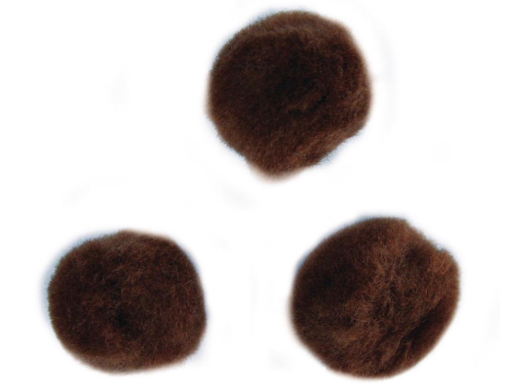 Karvapallid Rayher 25mm 35tk pruun