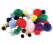 Pompons Rayher colours+sizes assorted 100pcs