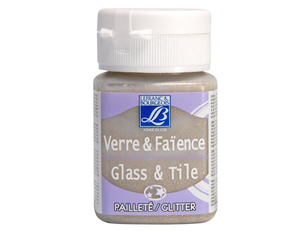 Stiklo dažai Glass&Tile Glitter 50ml 718 gold