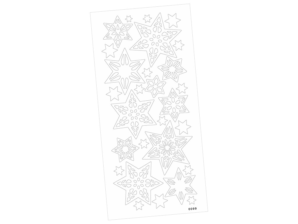 Outline Sticker 0099 Stars sticky blister