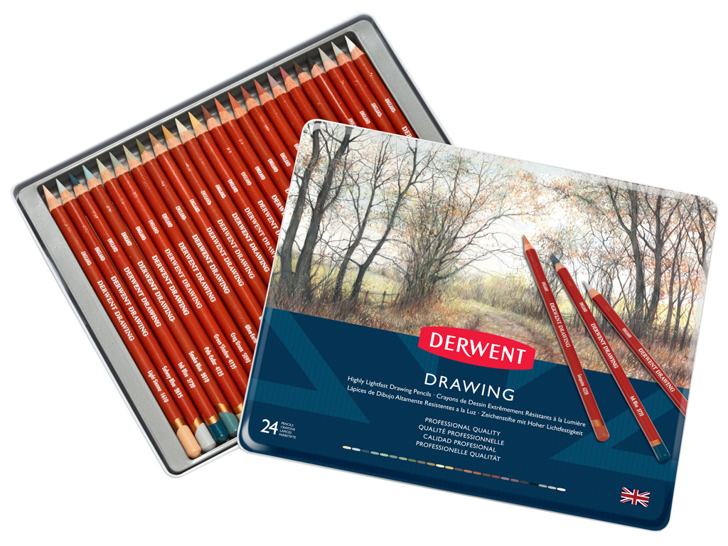 Drawing pencil Derwent 24pcs metal box