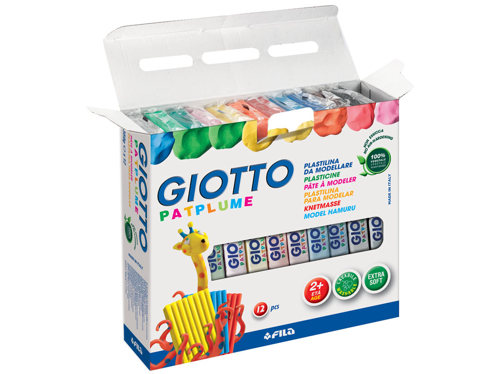 Plastilinas Giotto Patplume 12x350g