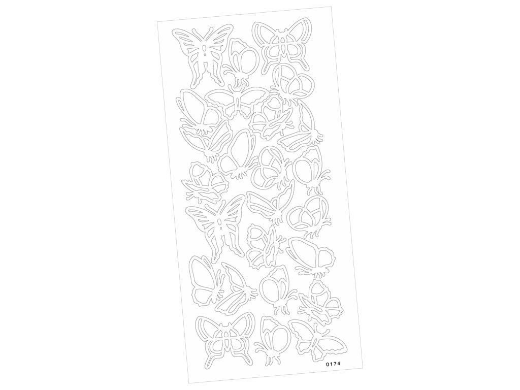 Kontuurkleebis 0174 Liblikad kahepoolne liim blistril