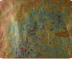 Zelta folijas lapas aploksnē 14x14cm 7gab. 267