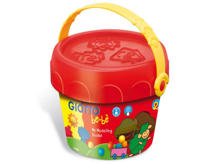 Soft modelling dough Giotto Be-Be bucket - 1/2