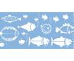 Šablons Marabu 15x33cm Fish Family