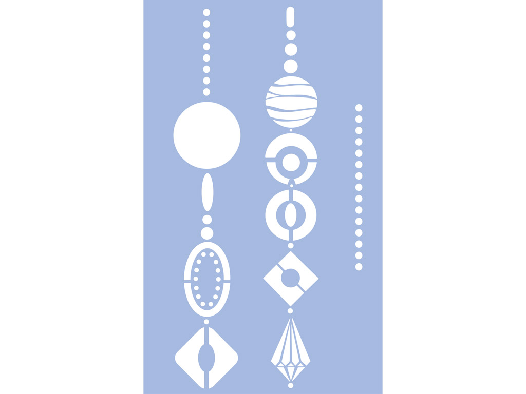 Šablonas Marabu 40x66cm Jewellery