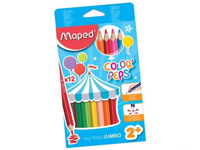 Colour pencils Maped Color'Peps Early Age Jumbo - 1/2