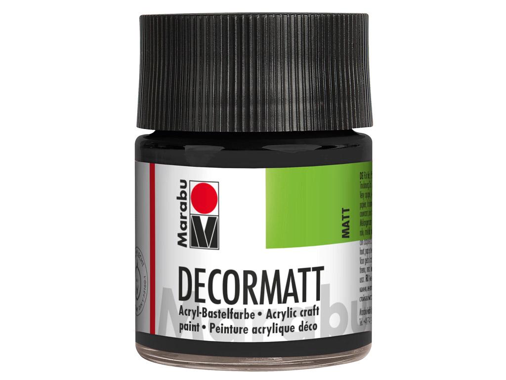 Dekoorvärv Decormatt 50ml 073 black