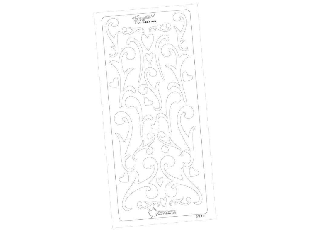 Kontuurkleebis 3318 Valge Muster blistril