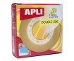 Self-adhesive double side tape Apli 15mmx10m transparent
