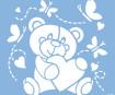 Šablonas Marabu 33x33cm Baby bear