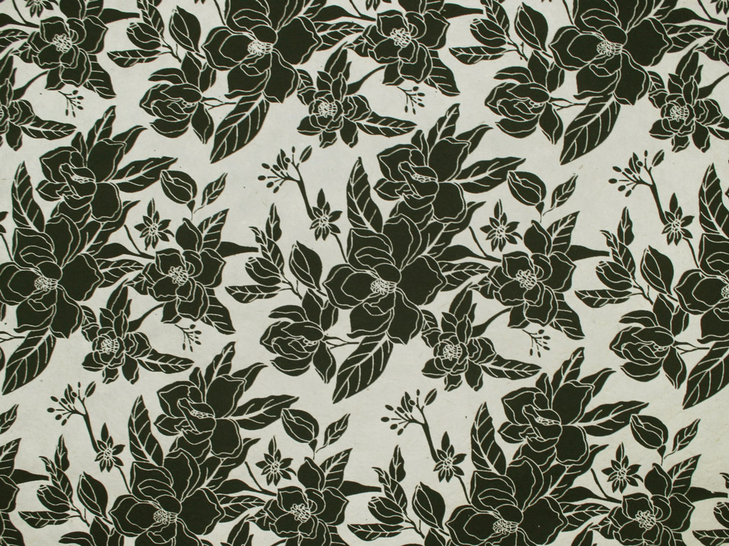 Lokta Paper 51x76cm Magnolia Black on Natural