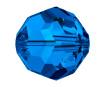 Kristāla pērle Swarovski apaļš 5000 6mm 7gab. 206 sapphire