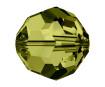 Crystal bead Swarovski round 5000 6mm 7pcs 228 olive