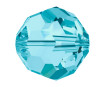 Kristāla pērle Swarovski apaļš 5000 6mm 7gab. 202 aquamarin