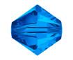 Kristallhelmes Swarovski romb 5328 4mm 30tk 206 sapphire