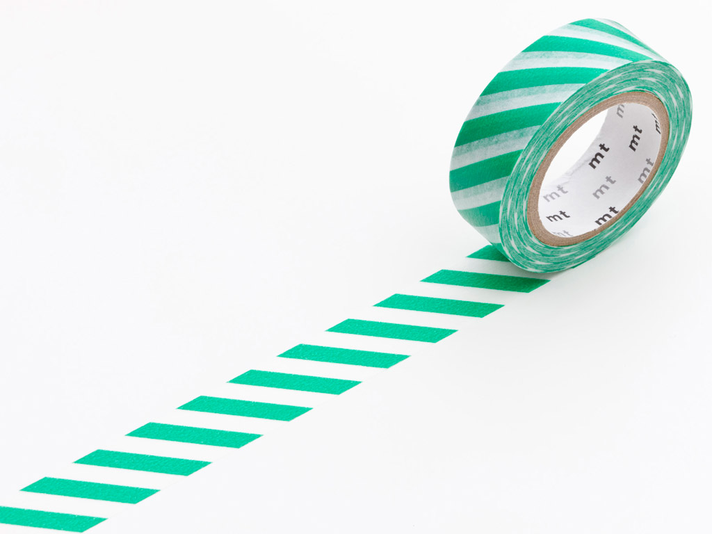 Washi līmlente mt 1P deco 15mmx10m stripe green