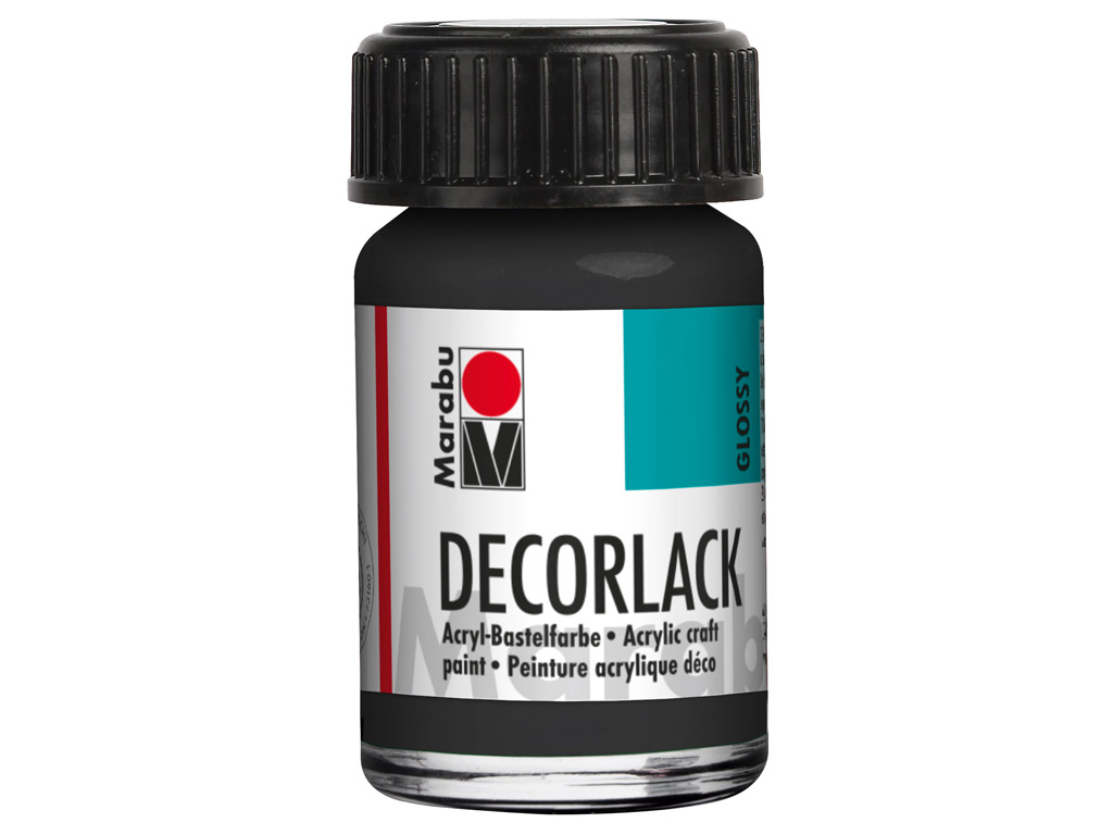 Dekoorvärv Decorlack 15ml 073 black