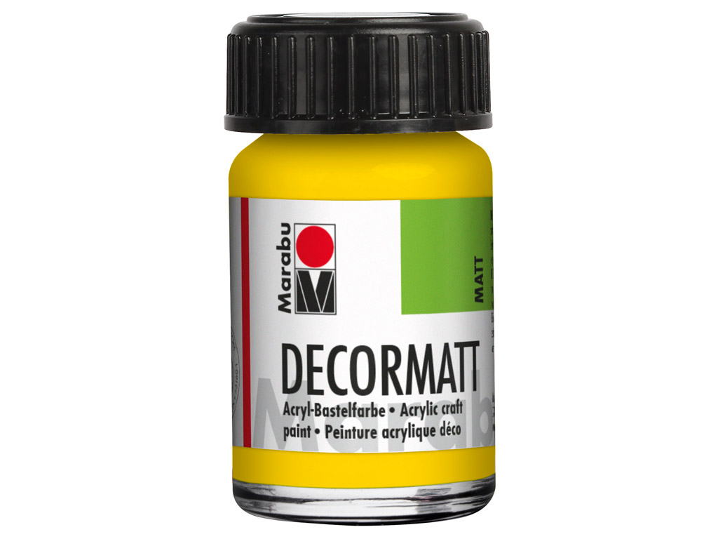 Dekoorvärv Decormatt 15ml 019 yellow