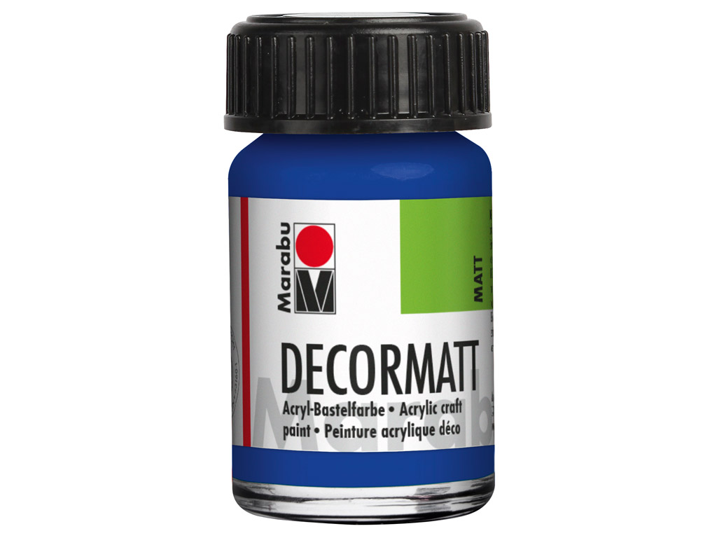 Hobby acryl Decormatt 15ml 055 dark ultramarine