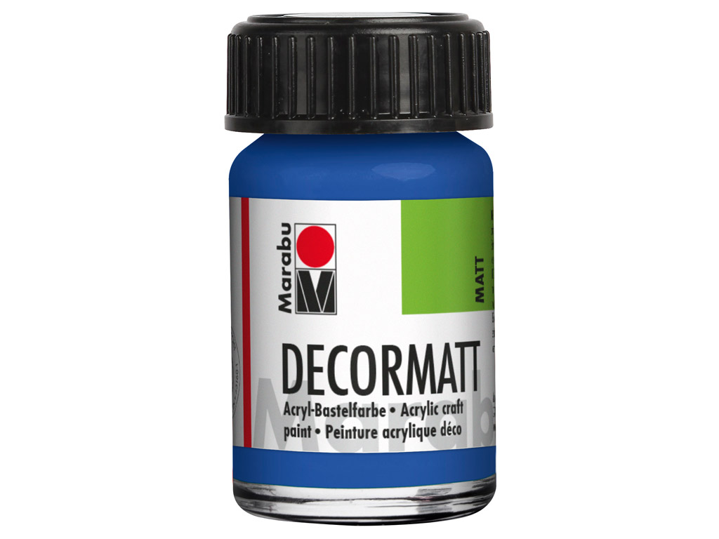 Dekoorvärv Decormatt 15ml 052 medium blue