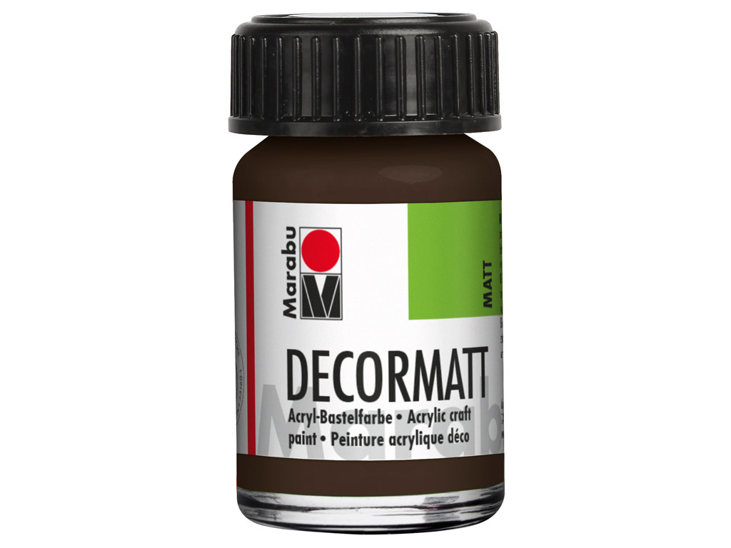 Hobby acryl Decormatt 15ml 045 dark brown