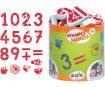 Zīmogs Aladine Stampo Minos 18gab. Numbers + zīmoga spilventiņš melna