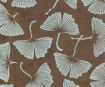 Nepaali paber A4 Big Gingko Leaves Silver on Brown