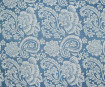 Lokta Paper 51x76cm Paisley White on Sky Blue