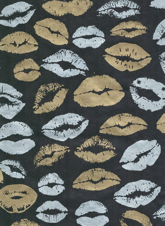 Lokta Paper A4 Kiss Gold on Black