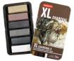 Charcoal Derwent XL 6pcs metal box