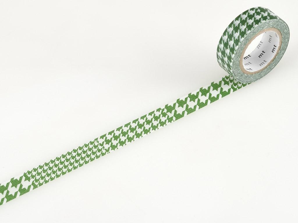 Washi dekoratyvi lipni juostelė mt 1P deco 15mmx10m chidori green