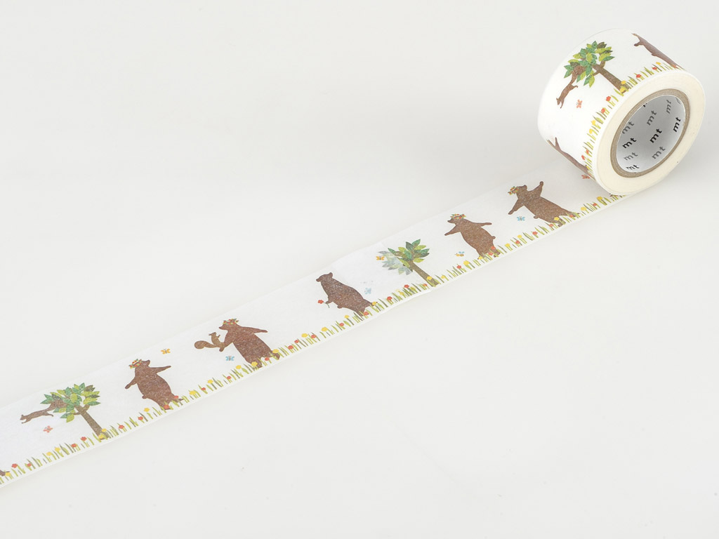 Masking tape mt ex 30mmx10m kasaneru bear&squirrel